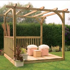 2.4 x 2.4m Easy Deck Kit Including Pergola