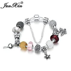 JUNXIN Charm Bohemia Unique Design Bracelets For Women Silver White Purple Multi Color Wedding Bracelet Pulseras SMT0469