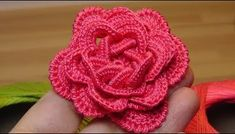 Crochet Flowers Easy This Crochet Rose is very beautiful plus very easy to make. You can find many crochet video tutorials or patterns on our website. So I decided to share it with my audience and I hope you will enjoy it and you will…Read Beau Crochet, Crochet Puff Flower, Crochet Flower Tutorial, Crochet Buttons, Crochet Motifs, Crochet Flower Patterns, Love Crochet, Irish Crochet, Beautiful Crochet