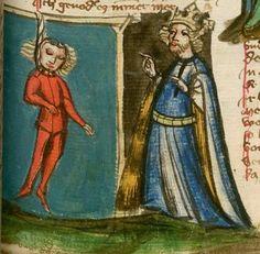 Jansen Enikel, Jans: Weltchronik Bayern-Österreich, 1. Hälfte 15. Jh. Cgm 250 Folio 279