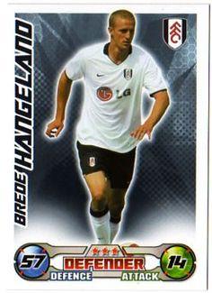 FULHAM - Brede Hangeland Topps Match Attax 2008/09 Football Trading Card