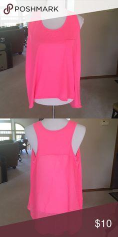 Hot pink pocket tank 100% polyester LW No Boundaries Tops Tank Tops