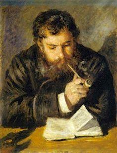 Claude Monet, painted by Renoir