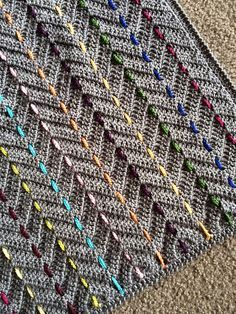Threaded Colors Chevron Baby Blanket By BabyLove Brand - Purchased Crochet Pattern - (ravelry)