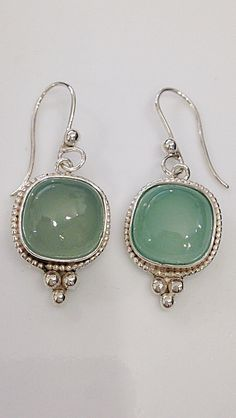 A personal favorite from my Etsy shop https://www.etsy.com/listing/253803859/sterling-silver-chalcedony-earrings