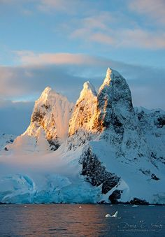 Sunrise at the Lemaire Channel, Antarctica