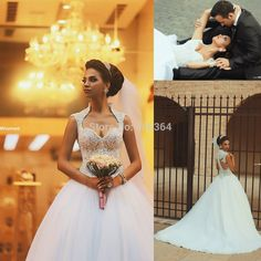 Ball Gown Bridal Dress 2015 Cap Sleeves Sweetheart Beaded Wedding Dress 2015 Romantic Vestido de Noiva