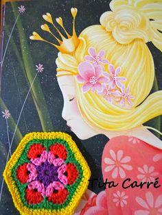 A princesa e o sapo e a Flor África em crochet