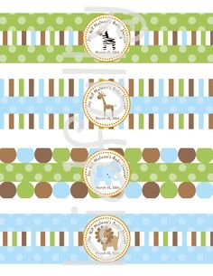 Printable+Safari+Zoo+Animal+Theme+Water+by+ThePartyPaperFairy
