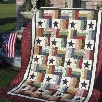Stars and Stripes - A Jelly Roll Quilt - via @Craftsy