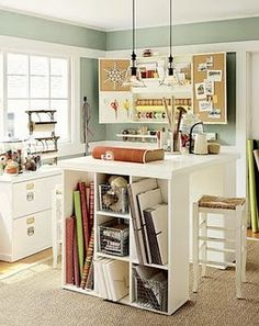 craft room - really only takes up a corner, like a laundry area.