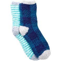 Free Press Pattern Fuzzy Socks - Pack of 2 ($7.97) ❤ liked on Polyvore featuring intimates, hosiery, socks, teal moroccan buffalo check, patterned socks, fuzzy socks, print socks, cushioned socks and teal socks