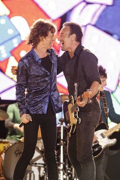 THE ROLLING STONES | Mick Jagger with special guest Bruce Springsteen...