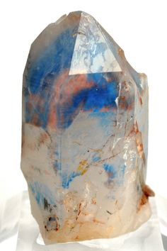 mineralia: Papagoite and Copper included in Quartz from South Africa