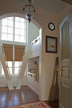 cottage-nautical bunk bed design by Geoff Chick
