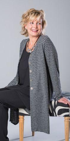 Kasbah black/grey wave jacket