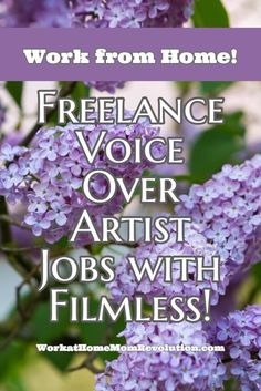 Filmless is hiring freelance voice over artists. This work at home position is available anywhere in the world with Internet. Awesome home-based job opportunity. You can make money from home! Visit us today to get started in your work at home job search!