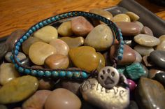 Items similar to Turquoise beaded doggy wrap with cute dog paw print button on Etsy Dog Jewelry, Beaded Jewelry, Unique Jewelry, Unique Dog Collars, Beaded Dog Collar, Dog Paws, Turquoise Beads, Pet Accessories, Lbd