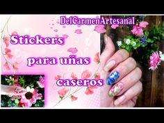 Cómo hacer fácilmente stickers para decorar uñas en casa Daisy, Nail Art, Engagement, Enamels, Frases, How To Make, Nails At Home, Nail Polish, Margarita Flower