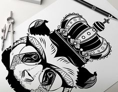 "Check out new work on my @Behance portfolio: ""Cocaine panda boss / baron"" http://on.be.net/1BNeUzY"