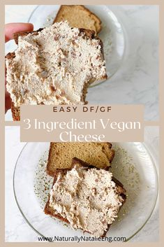 Easy & just a few ingredients Raw Vegan Almond Spread! Super easy to make and serves as a delicious, creamy spread, topping, or dip. Vegan, Dairy-Free, and Gluten-Free Healthy Vegan Desserts, Vegan Dessert Recipes, Vegan Recipes Easy, My Recipes, Dairy Free, Gluten Free, Easy No Bake Desserts, Raw Almonds, Vegan Cheese