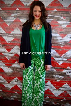 Garden Party Palazzos – The ZigZag Stripe. Use coupon code ZZS72 to save 10% on every order, and shipping is free! zigzagstripe.com