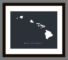 Personalized Hawaii Love Map Wall Art Printable by PrintsofBeauty, $10.00