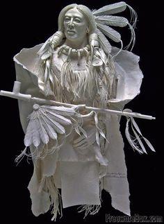 Screenshot of Native American Indian Paper Art