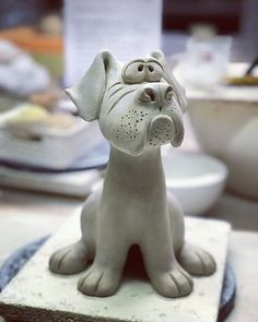 Dog Training Name .Dog Training Name Pottery Animals, Ceramic Animals, Clay Animals, Dog Sculpture, Pottery Sculpture, Animal Sculptures, Ceramics Projects, Clay Projects, Clay Crafts