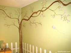 tree wall murals hand painted mural examples agrawal one stroke certified instructor cherry blossoms