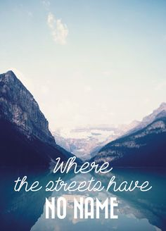 """Carte postale """"Where the streets have no name"""""""