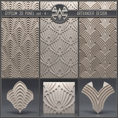 models: Other decorative objects - Gypsum panel 3d Wall Tiles, Wall Tiles Design, Gypsum Wall, Material Library, 3d Panels, Decorative Objects, Wall Art Decor, 3 D, House Design