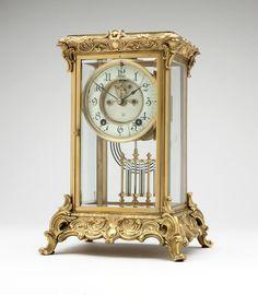 An American crystal regulator clock, Ansonia