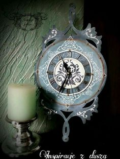 #handmade #clock #chalkpaint