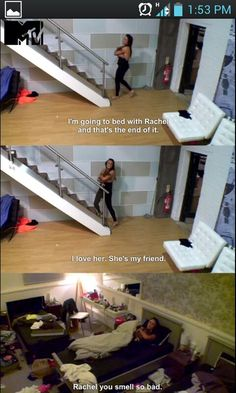 Charlotte, Geordie Shore. I almost peed myself when she brought the chicken to bed with her.