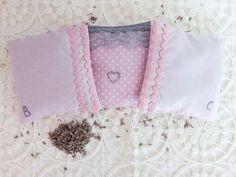 Cottage Cotton Lavender Pillow Bags Sachet Favor Set of 3 With