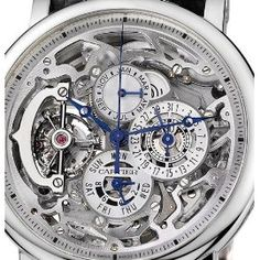Cartier Rotonde Grand Complication (Platinum / Silver/ Leather) : Rotonde de Cartier