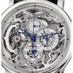 Cartier Rotonde Grand Complication (Platinum / Silver/ Leather) : Rotonde de Cartier
