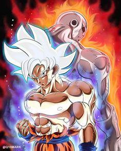 Goku and Jiren Dragon Ball Z, Dbz, Goku Vs Jiren, Goku Pics, Z Warriors, Epic Characters, Pinterest Photos, Character Design Inspiration, Anime Art