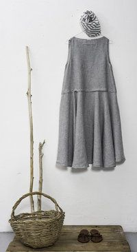 apuntob - summer 14 Cotton Linen, Linen Tunic, Cute Dresses, Linen Dresses, Dressmaking, Kaftan, I Dress, Frocks, Boho Fashion