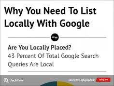 Rediculously Simple Reasons Any Business Should Be On Google Places That No One Tell Them. Infographic, Business, Simple, Places, Google, Lugares, Infographics, Store, Business Illustration