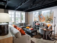 Basement Rec Room Pictures From HGTV Smart Home 2014 on HGTV. - I would love this, as hubby and I are musicians!