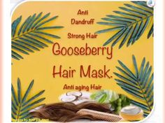 HairMask for stronger hair anti dandruff and makes your hair longer and helps to stop premature greying hair. Amla Powder Hair, Aloe Vera Hair Mask, Hair Gel, Strong Hair, Aloe Vera Gel, Dandruff, Healthy Hair, Coconut Oil, Your Hair