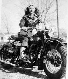 bikes-n-girls: Biker girl . Motorcycle Posters, Retro Motorcycle, Motorcycle Girls, Motos Harley, Harley Davidson Motorcycles, Triumph Motorcycles, Lady Biker, Biker Girl, Foto Picture