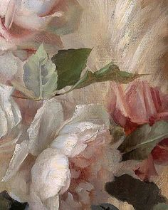 """myfairylily: """"Detail, """"Still Life with Roses and Decorative Elephant"""" by Marie Nyl-Frosch Renaissance Paintings, Renaissance Art, Aesthetic Painting, Aesthetic Art, Angel Aesthetic, Photowall Ideas, Arte Van Gogh, Photocollage, Classical Art"""