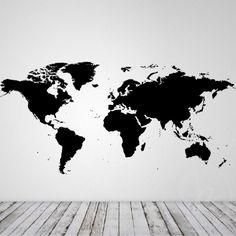 Verdenskort ensfarvet
