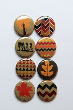 Fall 1 Flair by aflairforbuttons on Etsy, $6.00