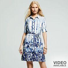 Peter Som for designation tie-dye shirtdress on shopstyle.com