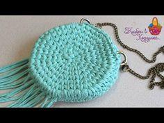 "Круглая сумочка крючком из трикотажной пряжи ""Silena"" #KVK - YouTube"