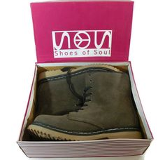 Shoes of Soul Lace-Up Ankle Boots - Brown Suede look Size 9 NIB Nice #SHOESOFSOUL #AnkleBoots #any